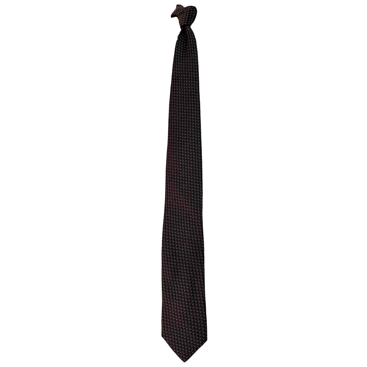 Yves Saint Laurent \N Navy Silk Ties for Men \N