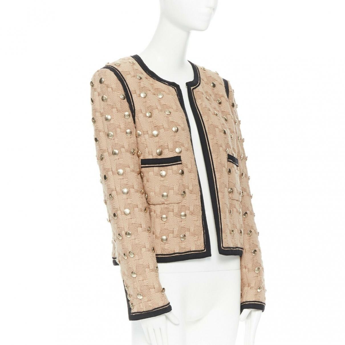 Chanel \N Beige Wool jacket for Women 44 FR