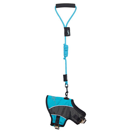 The Pet Life Touchdog Reflective-Max 2-in-1 Premium Performance Adjustable Dog Harness and Leash, One Size , Blue