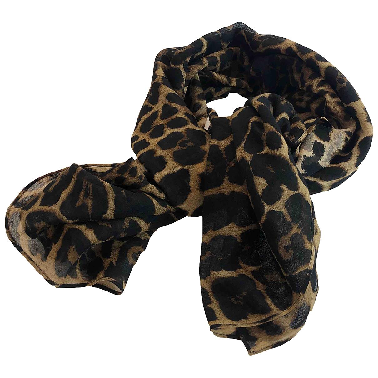 Saint Laurent \N Black Silk scarf for Women \N