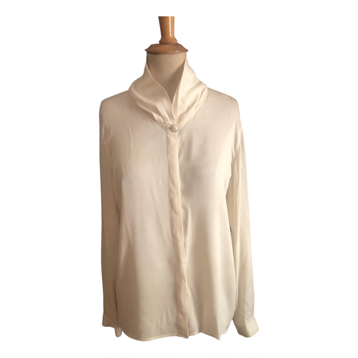 Pierre Cardin \N Ecru Silk  top for Women 50-52 IT