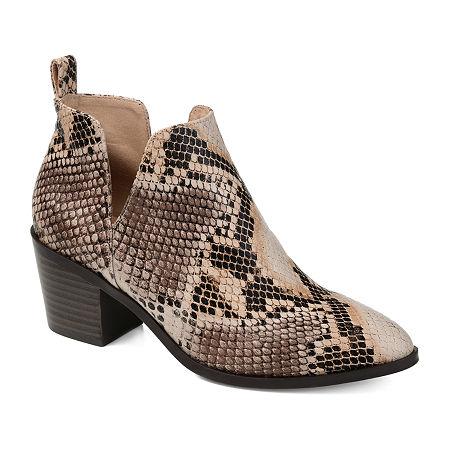 Journee Collection Womens Lola Stacked Heel Booties, 6 1/2 Medium, Multiple Colors
