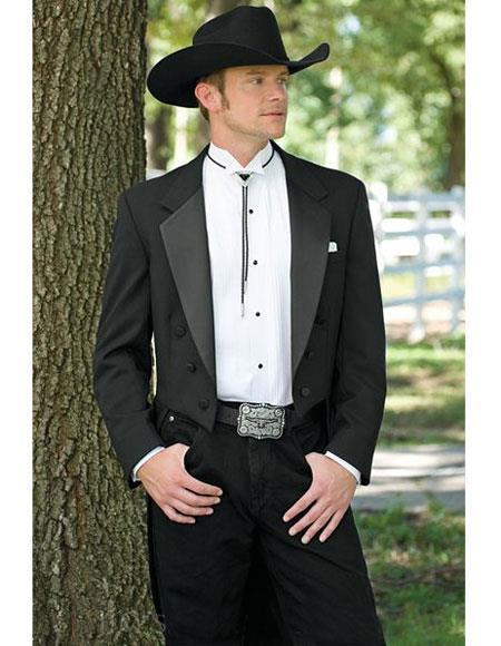 Mens Black Western Suit & Tuxedo