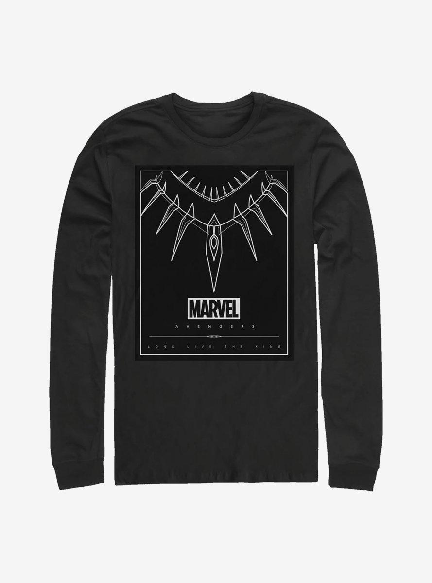 Marvel Black Panther Necklace Long-Sleeve T-Shirt
