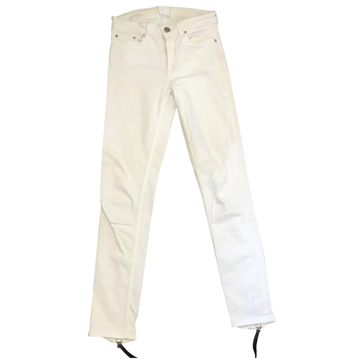 Acne Studios Skin 5 White Cotton - elasthane Jeans for Women 32 FR