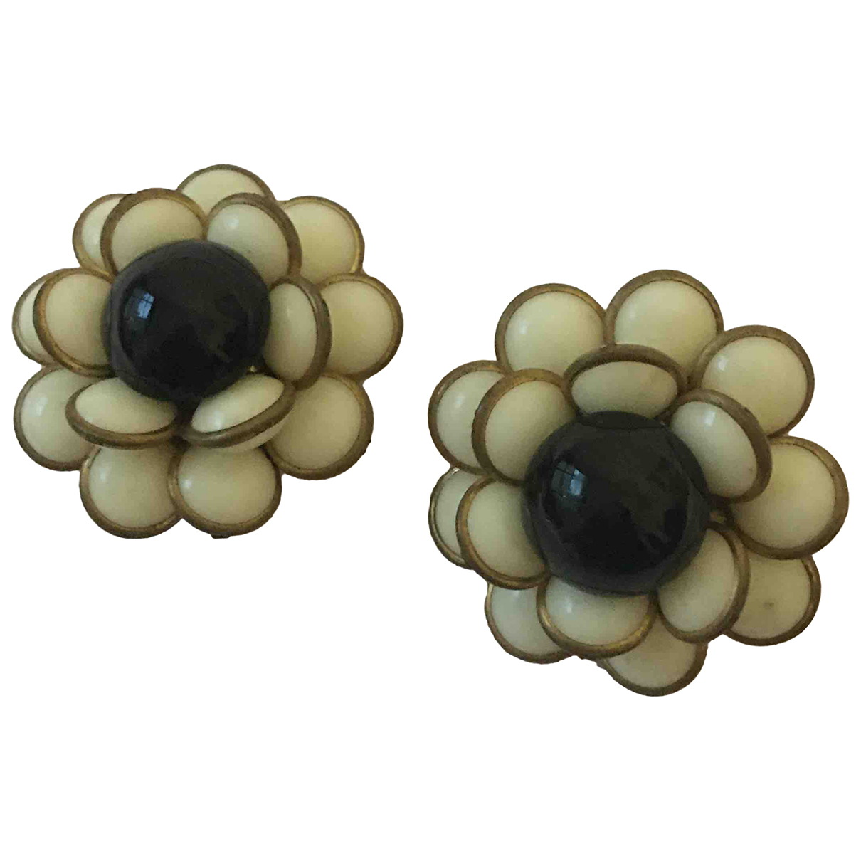 Non Signé / Unsigned Motifs Floraux Metal Earrings for Women \N