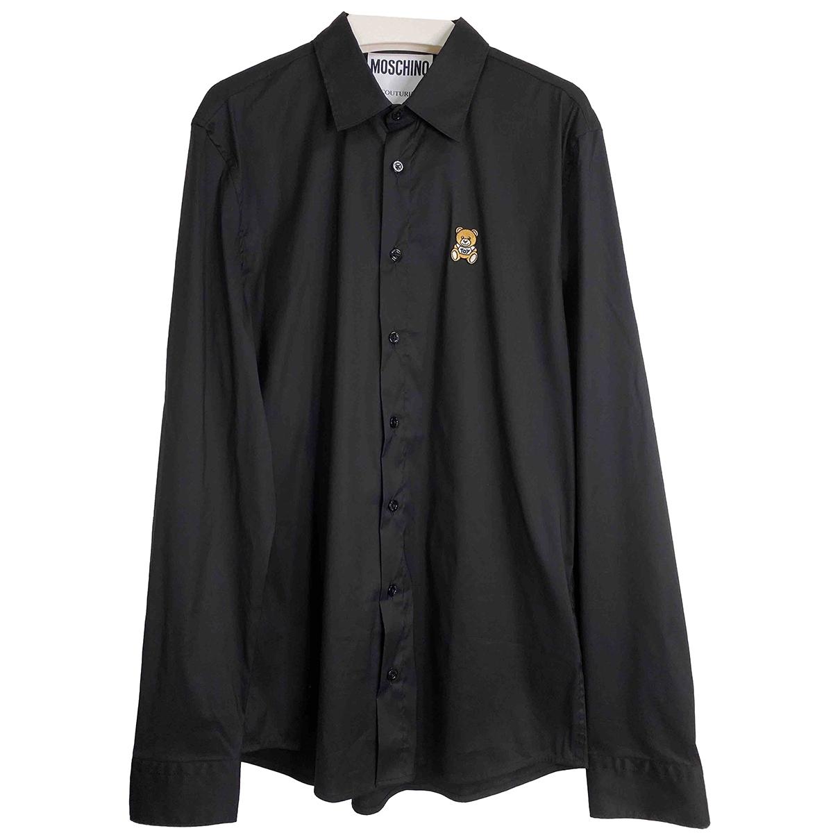 Moschino \N Black Cotton Shirts for Men 39 EU (tour de cou / collar)