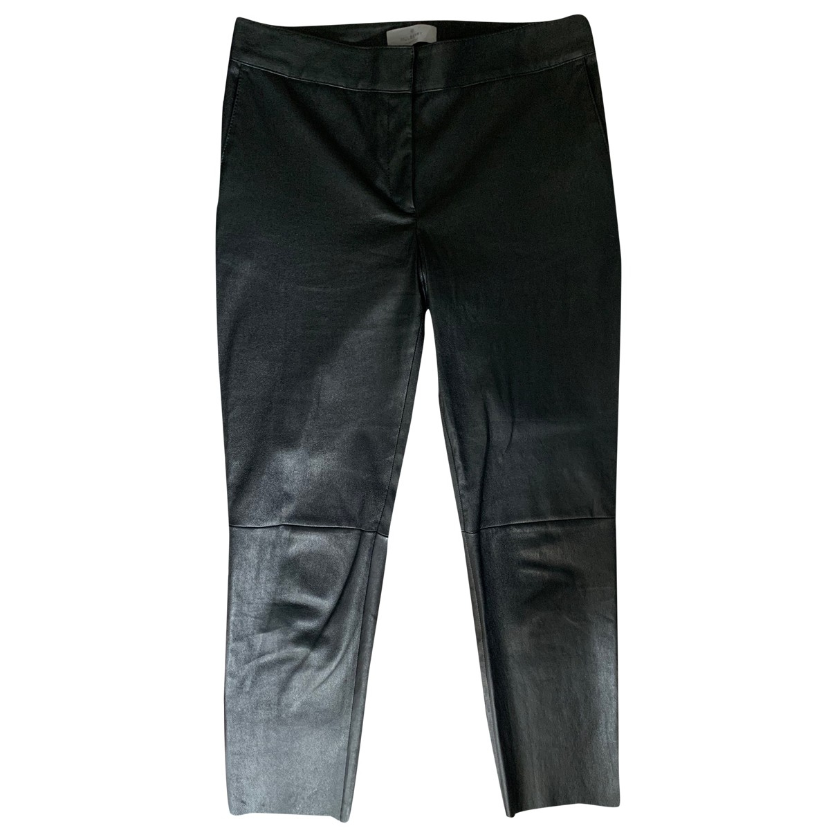 Mulberry \N Black Leather Trousers for Women 8 UK