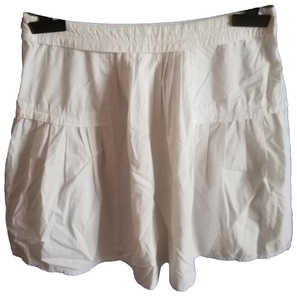 Max & Co \N White Cotton skirt for Women 40 IT