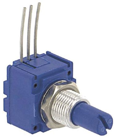 Bourns 1 Gang Rotary Cermet Potentiometer with an 6.35 mm Dia. Shaft - 500kΩ, ±10%, 2W Power Rating, Linear, Panel Mount