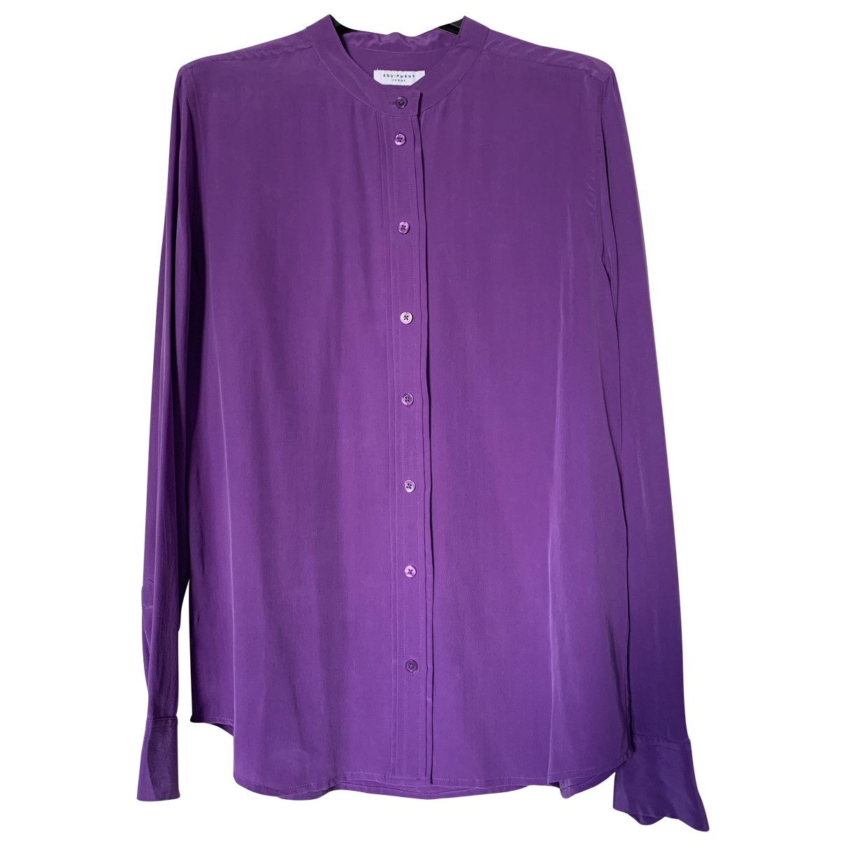 Equipment \N Purple Silk  top for Women L International