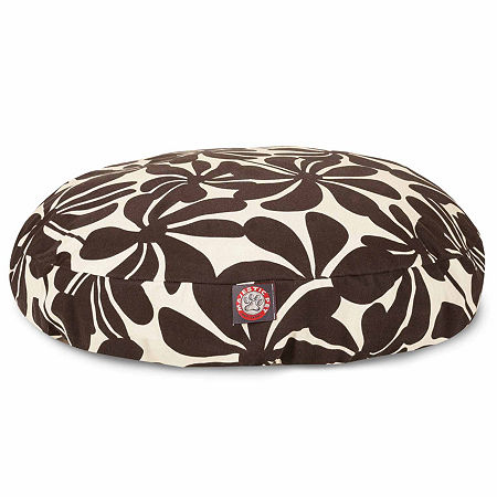 Majestic Pet Plantation Round Pet Bed, One Size , Brown