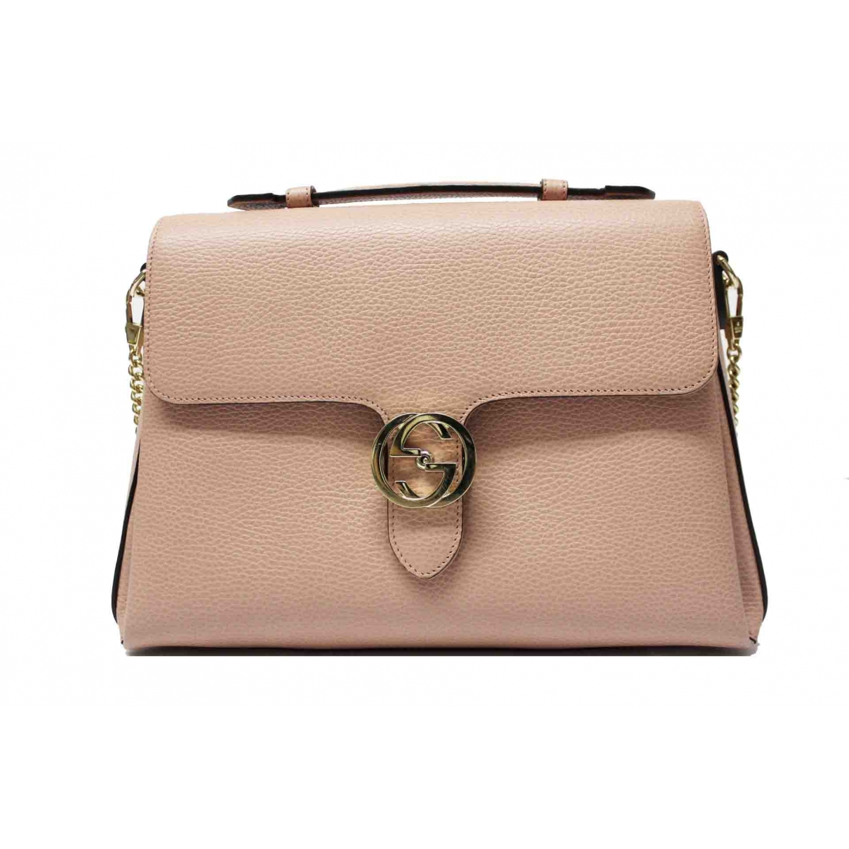 Gucci Interlocking Pink Leather handbag for Women \N