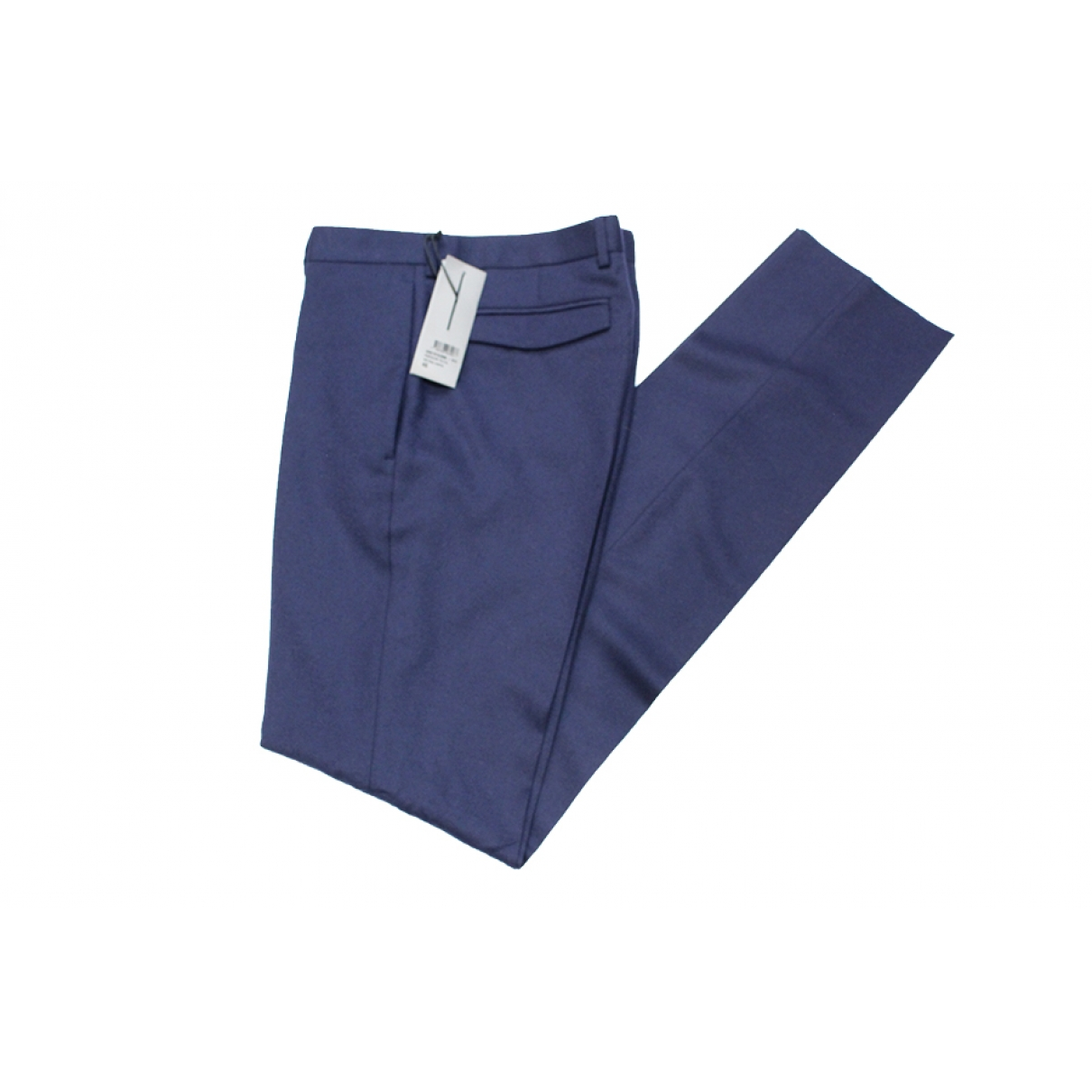 Dior Homme \N Blue Wool Trousers for Men 46 FR