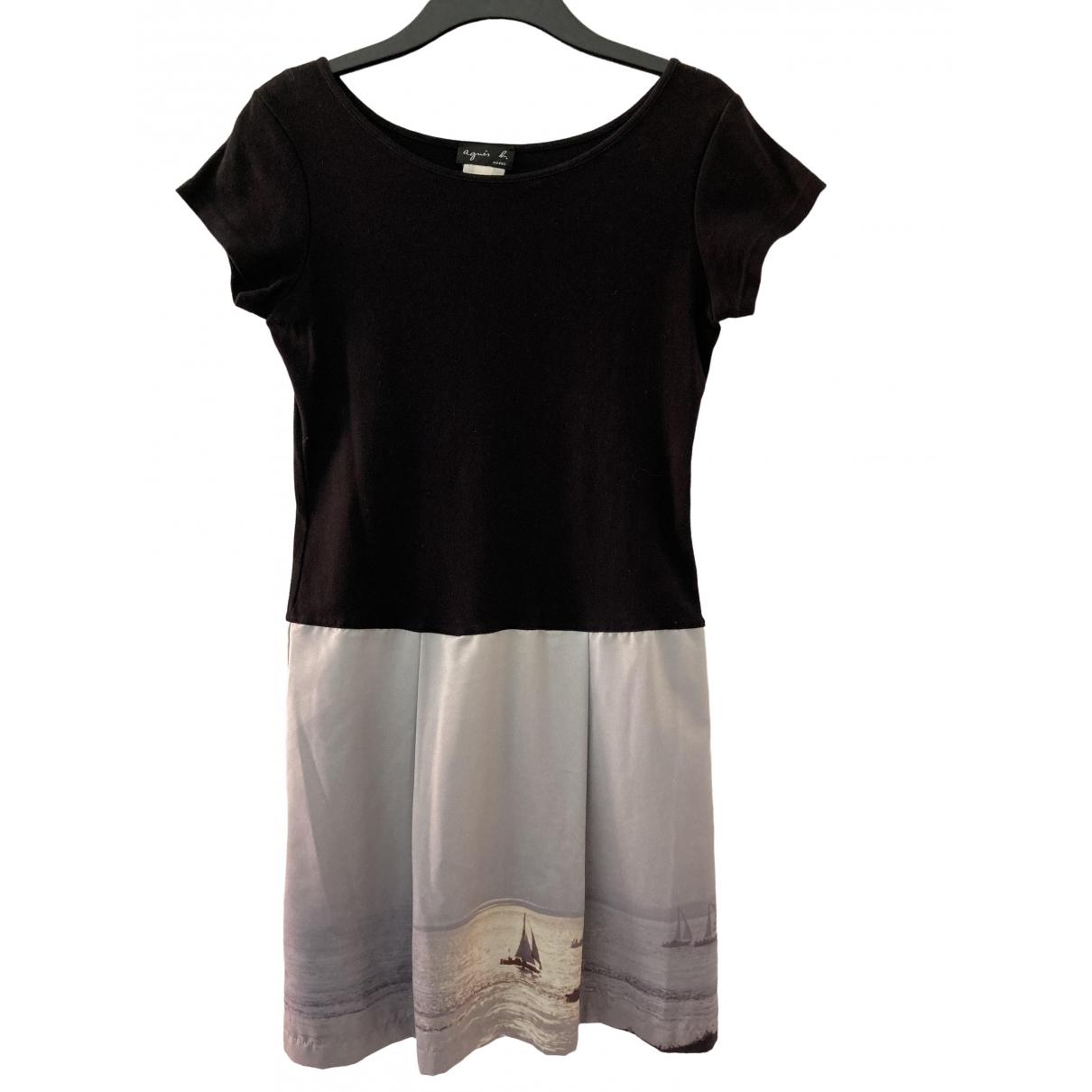 Agnès B. \N Black Cotton dress for Women 2 0-5