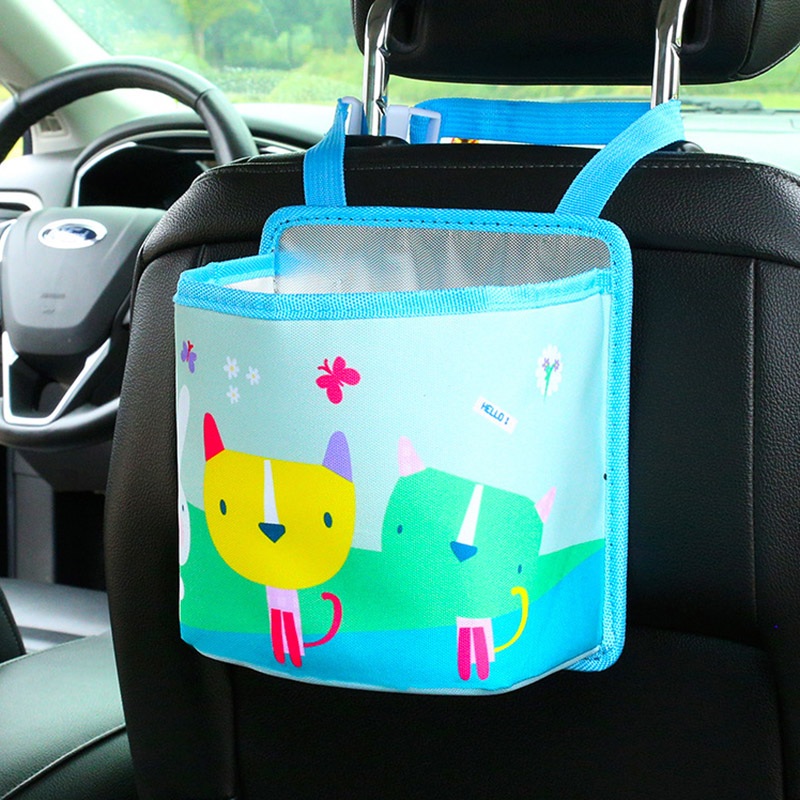 Vehicle Multi-Functional Creative Suspended Vehicle Trash Can Garbage Bins In The Car Garbage Bags Storage Boxes