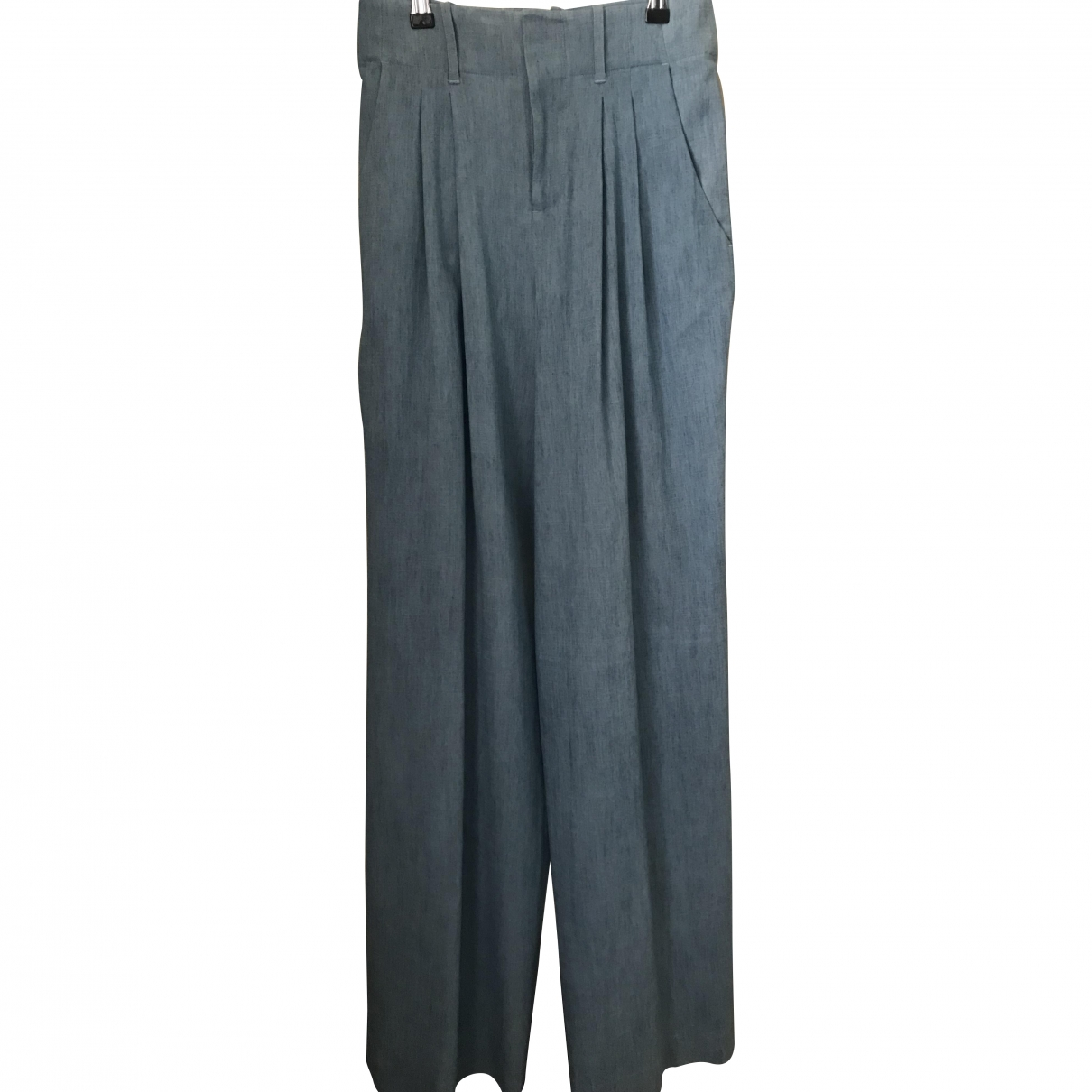 Alice & Olivia \N Blue Cotton Trousers for Women 4 US