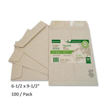 SupremeX Recycled Catalog Envelope, 6-1/2 x 9-1/2