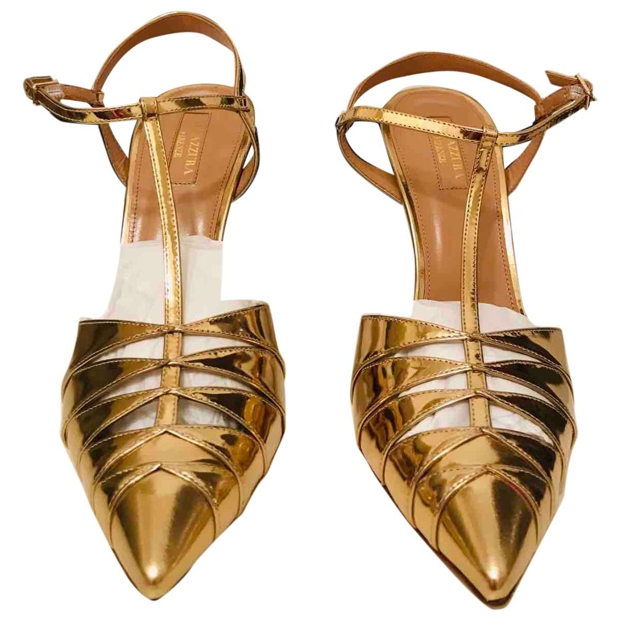 Aquazzura \N Metallic Leather Sandals for Women 40.5 EU