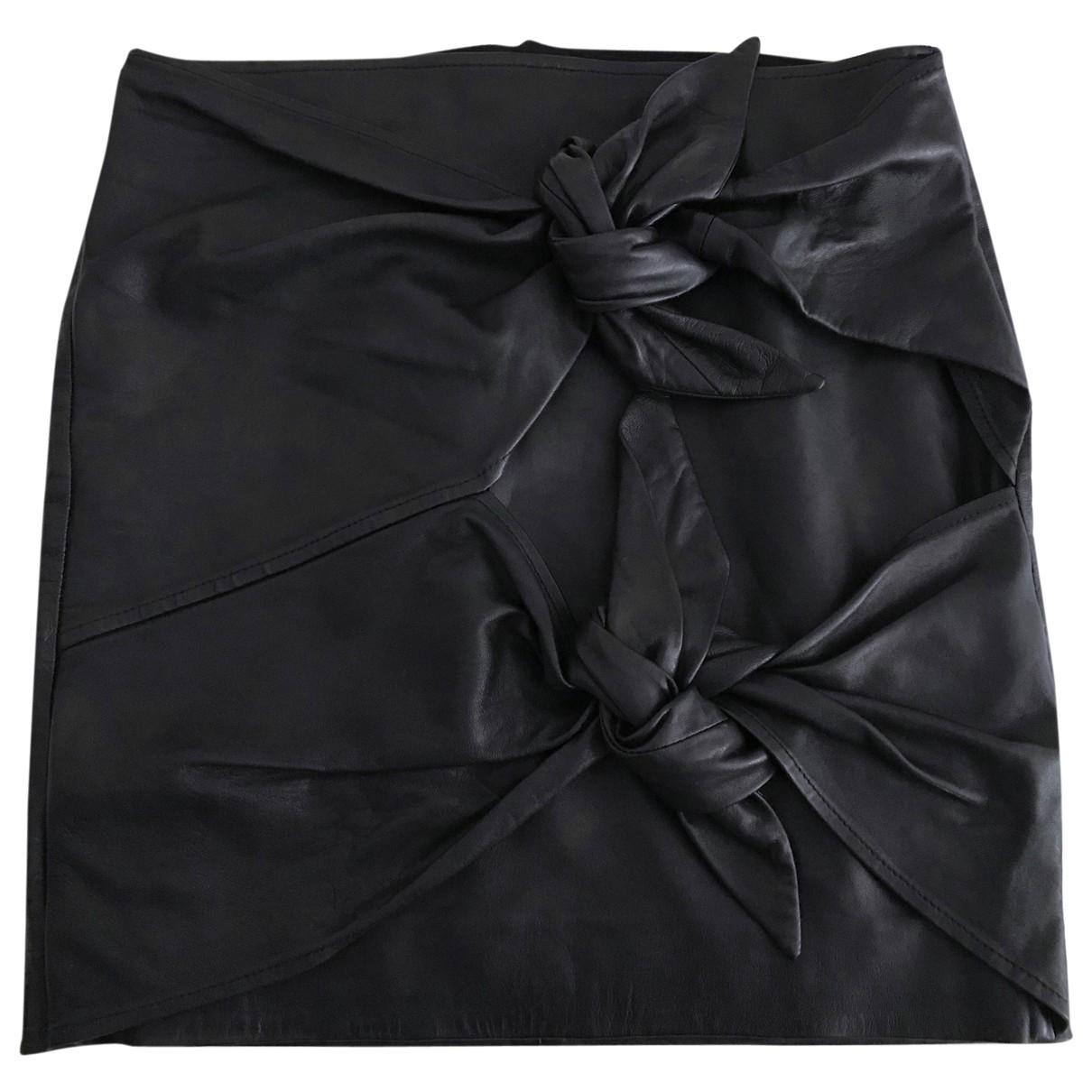 Isabel Marant Etoile \N Black Leather skirt for Women 36 FR
