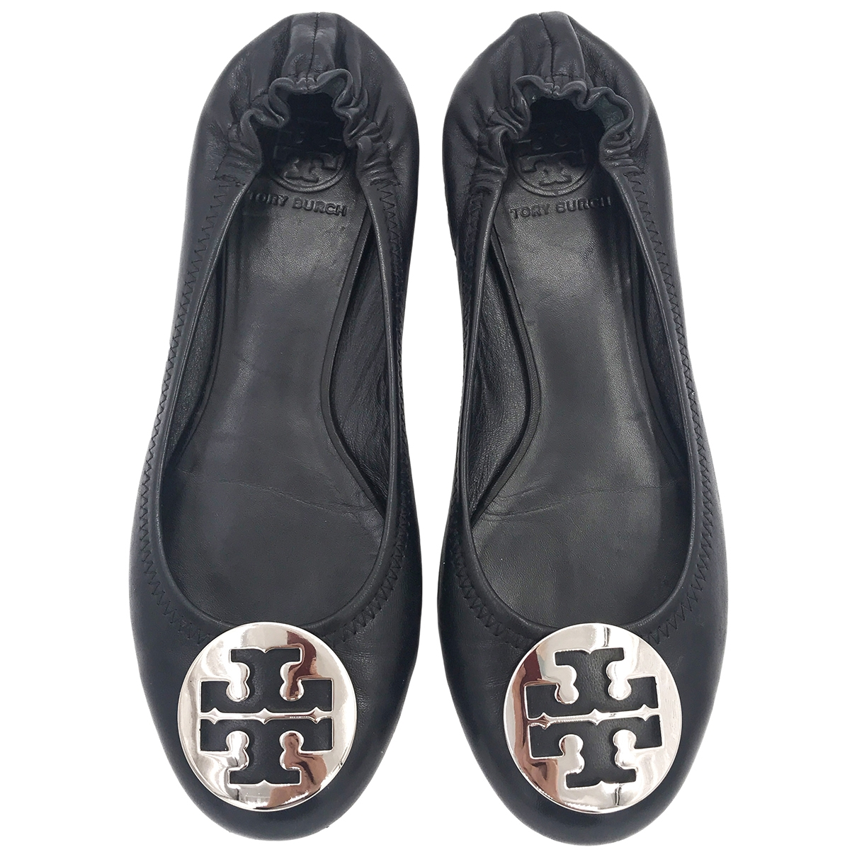 Tory Burch \N Black Leather Ballet flats for Women 39 IT