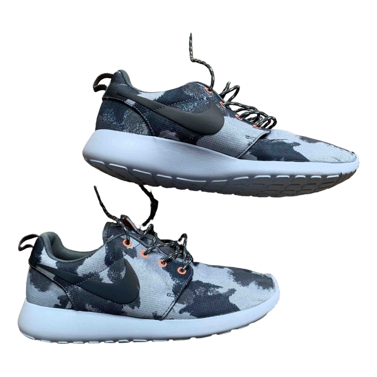 Nike Roshe Run Sneakers in  Blau Leinen
