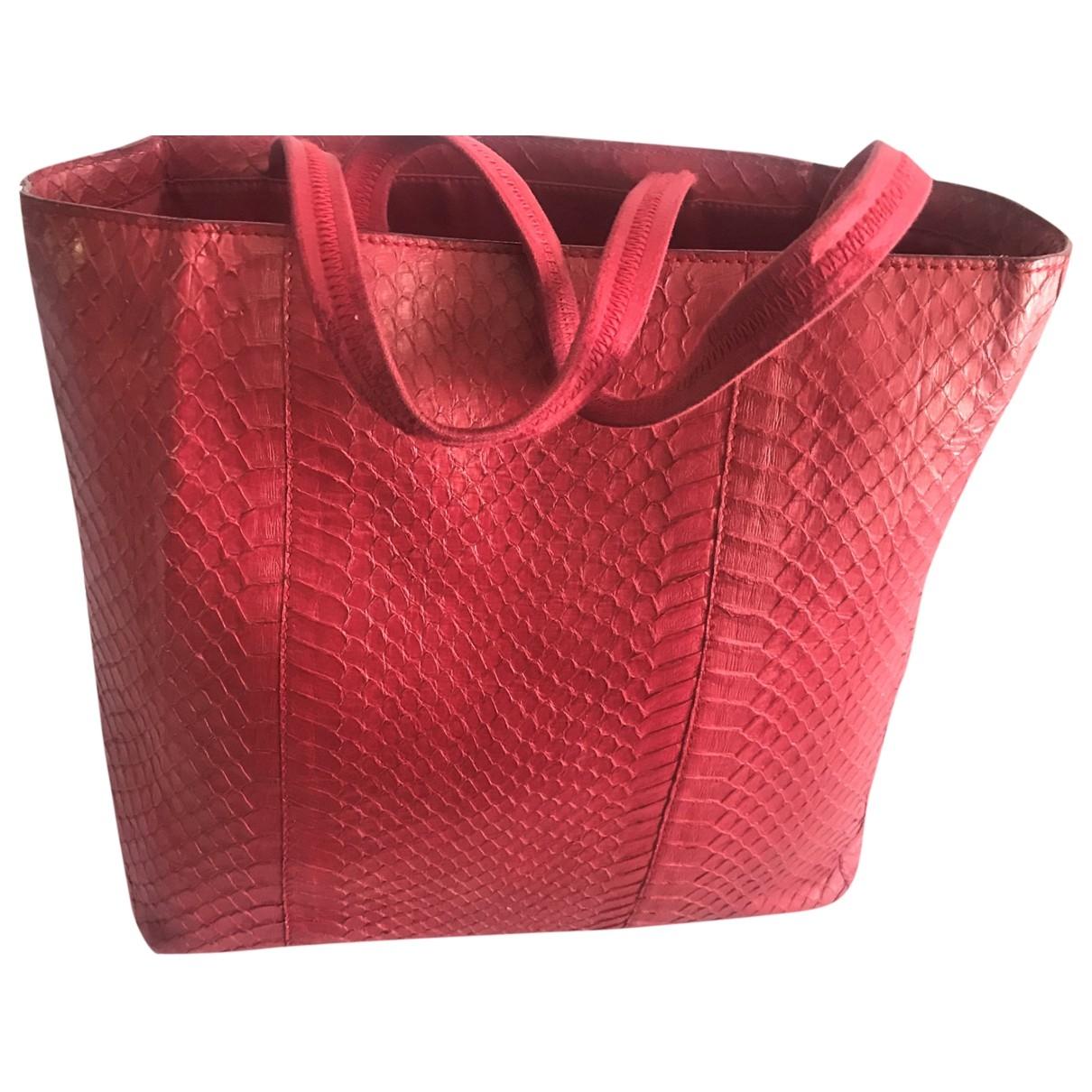 Prada \N Pink Exotic leathers handbag for Women \N