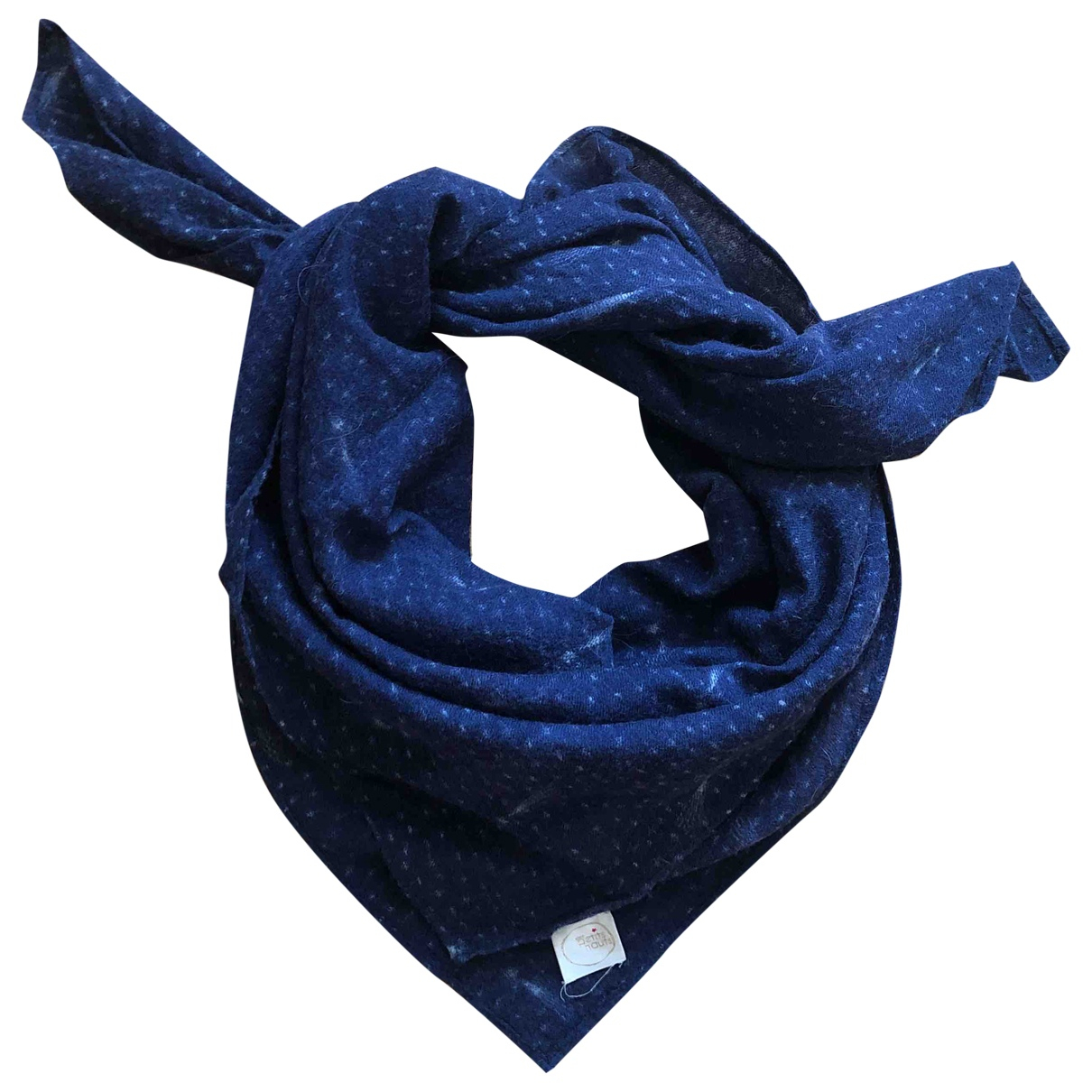 Des Petits Hauts \N Blue Wool scarf for Women \N