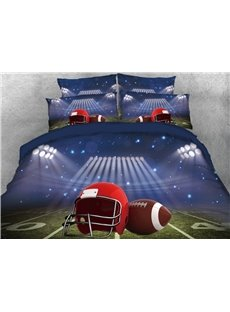 Vivilinen Rugby and Playing Field Printed 4-Piece 3D Bedding Sets/Duvet Cover