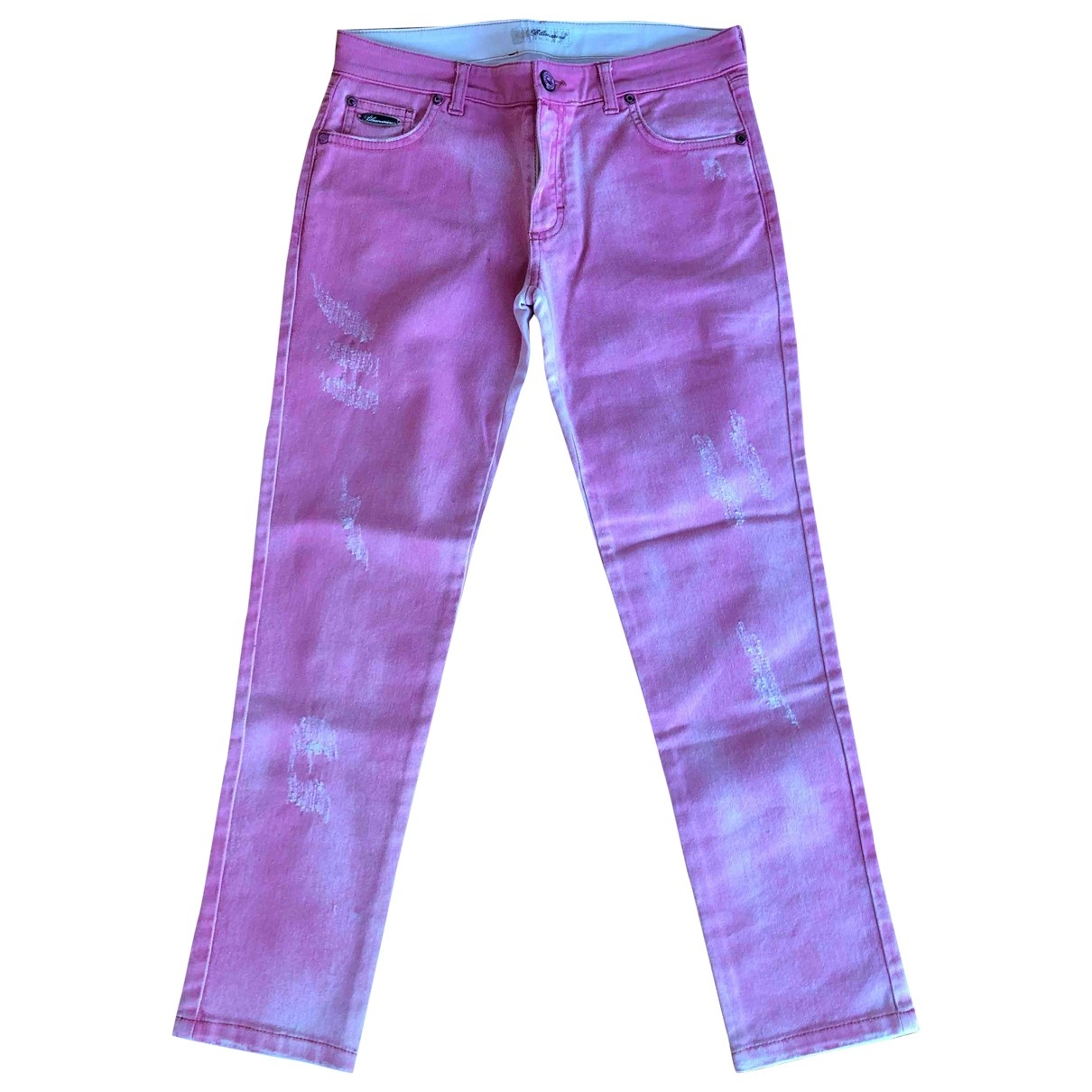 Blumarine \N Pink Cotton Jeans for Women 34 FR