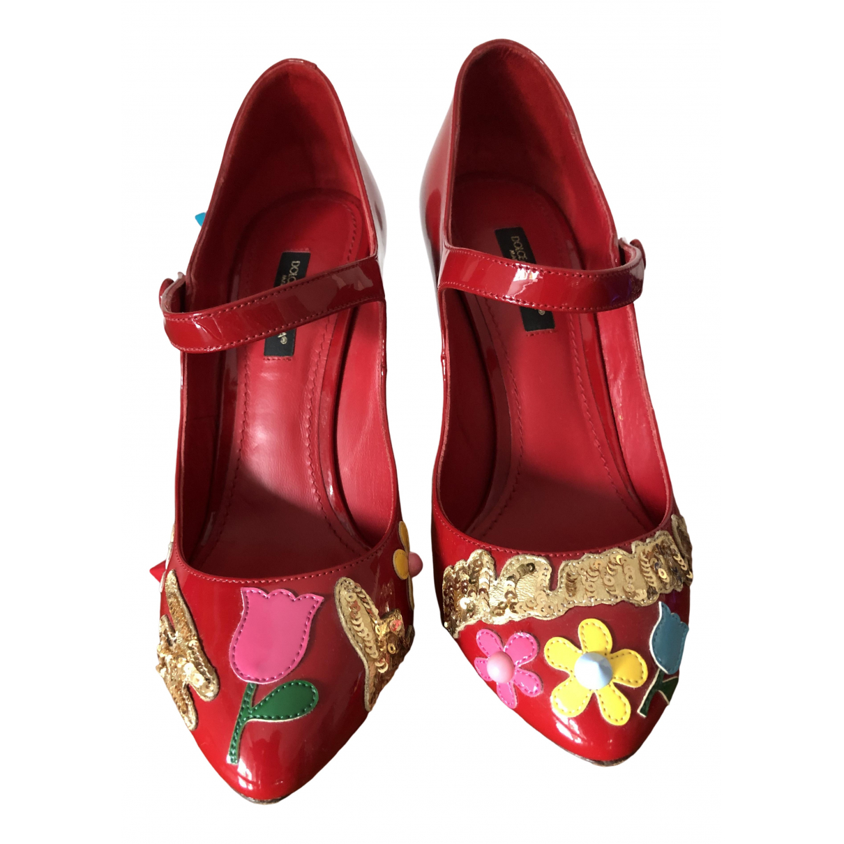 Dolce & Gabbana \N Red Patent leather Heels for Women 36.5 EU