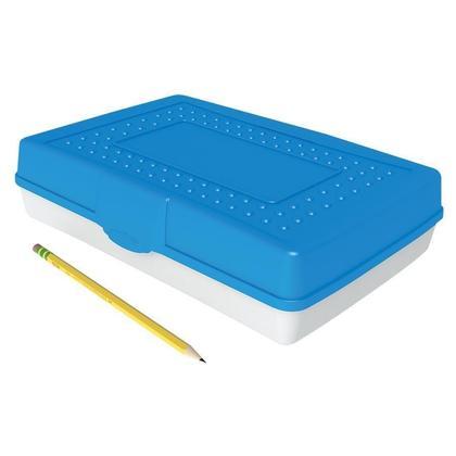 Storex@ plastique durable couvercle opaque pencil box