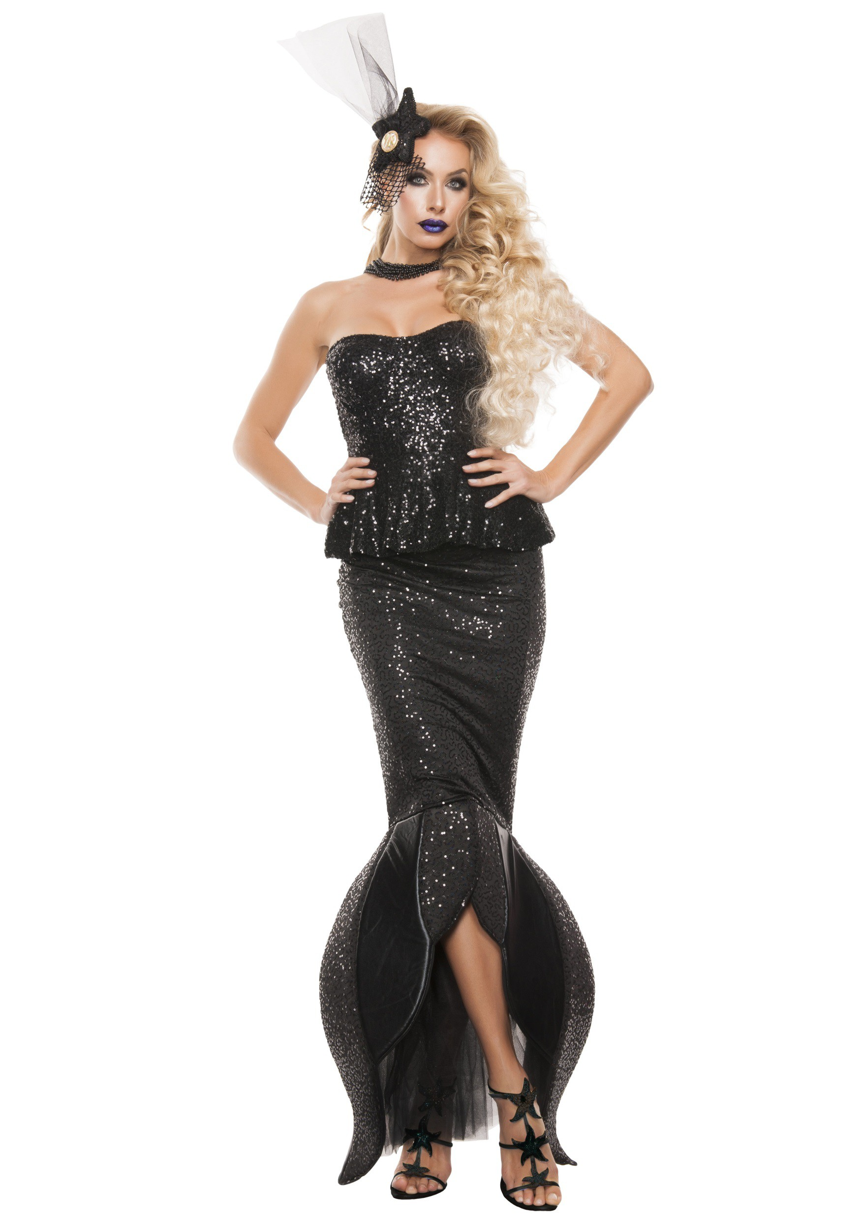 Women's Black Mermaid Costume