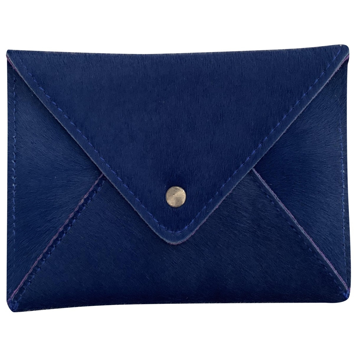 Non Signé / Unsigned \N Blue Leather Purses, wallet & cases for Women \N