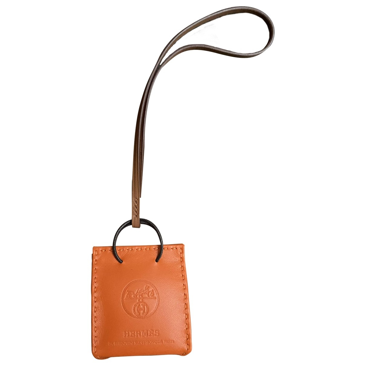 Hermès \N Orange Leather Bag charms for Women \N