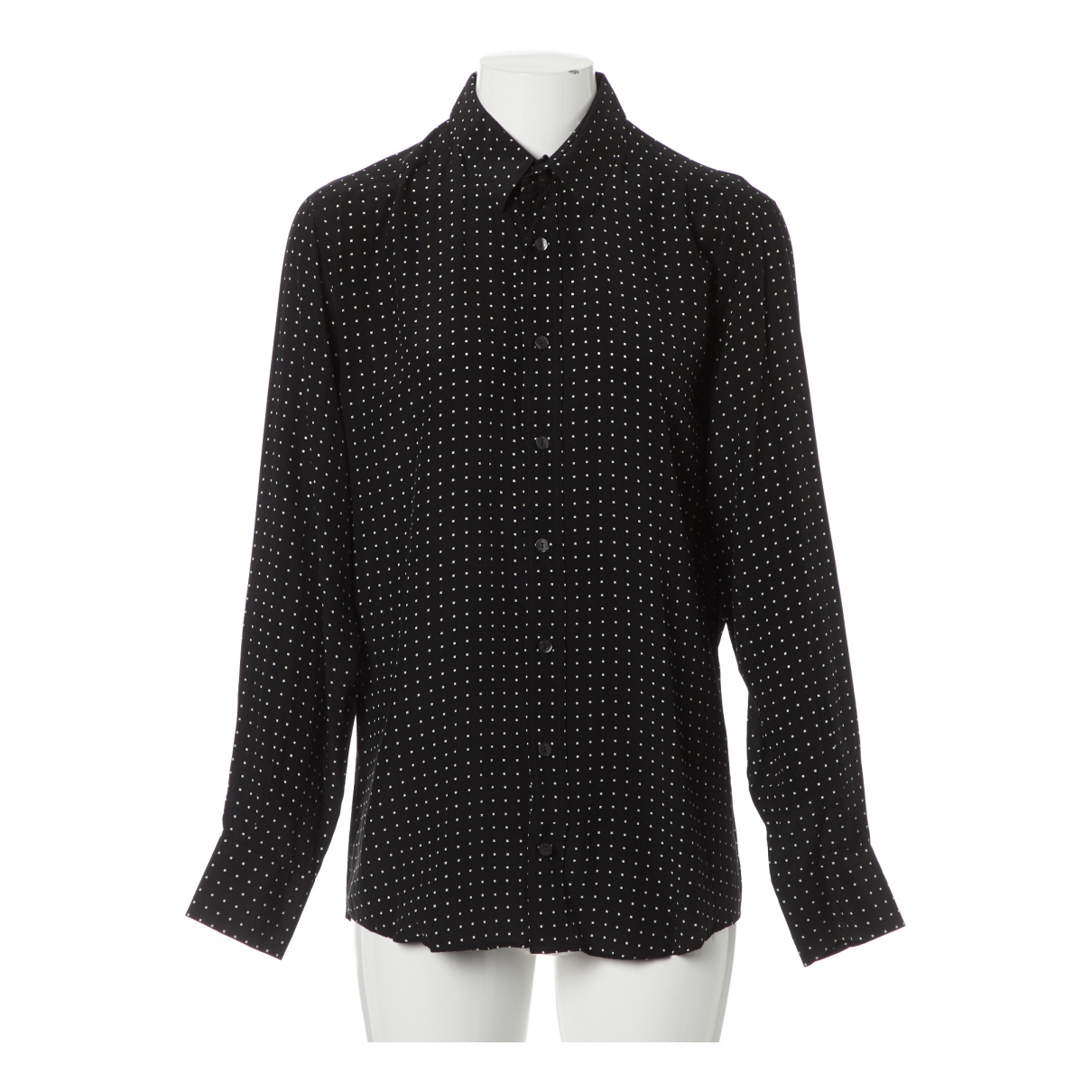 Dolce & Gabbana \N Black Silk Shirts for Men 40 EU (tour de cou / collar)