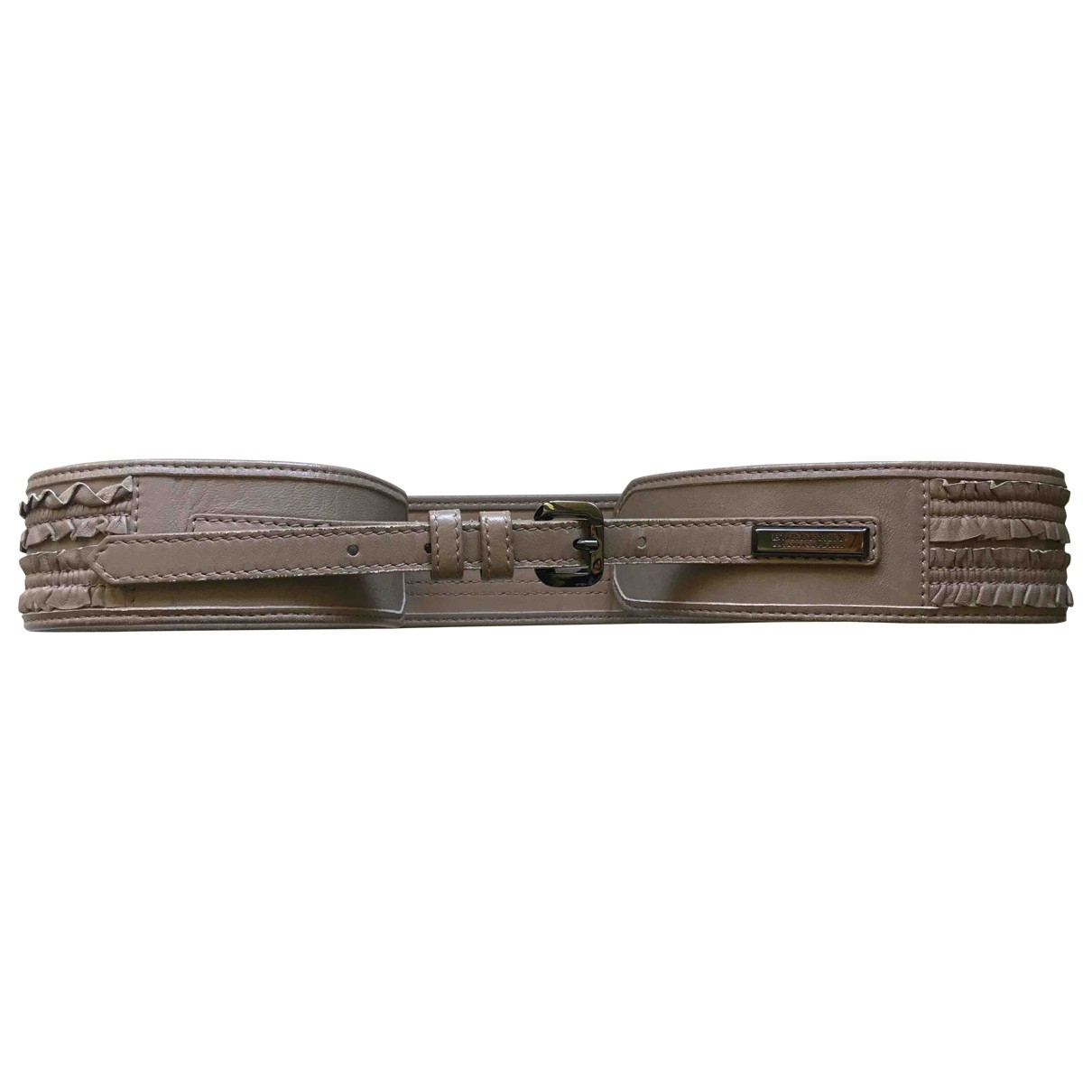 Burberry \N Grey Leather belt for Women 80 cm
