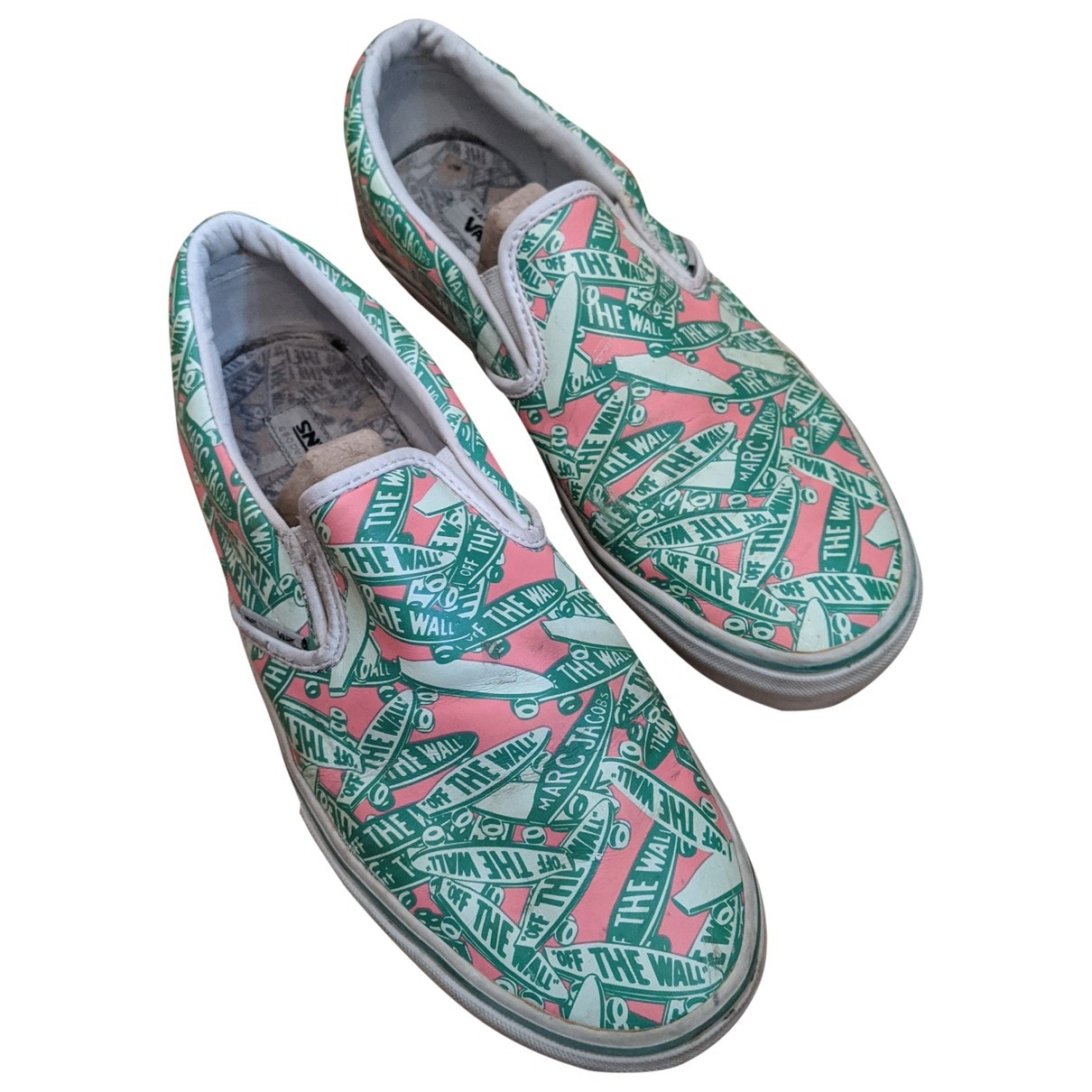 Vans \N Green Leather Trainers for Men 11 US