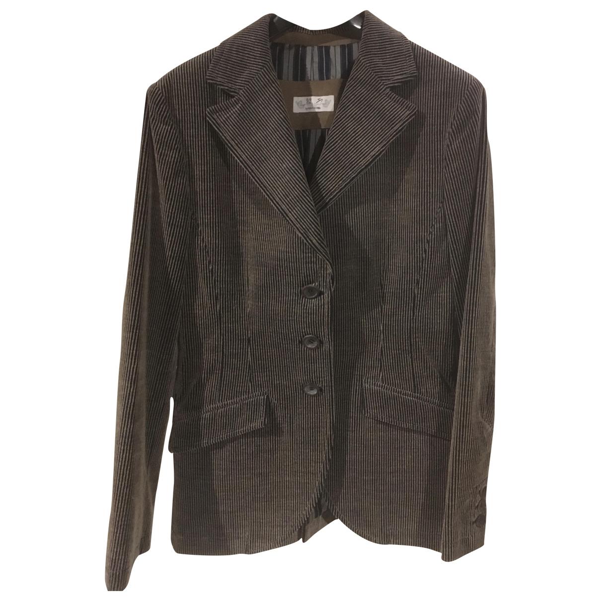 As29 \N Grey Velvet jacket for Women 42 IT
