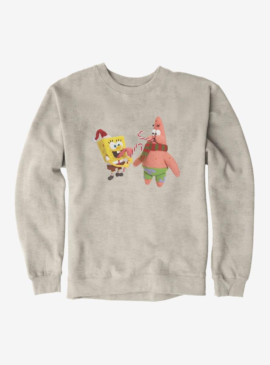 SpongeBob SquarePants Christmas Candy Canes Sweatshirt