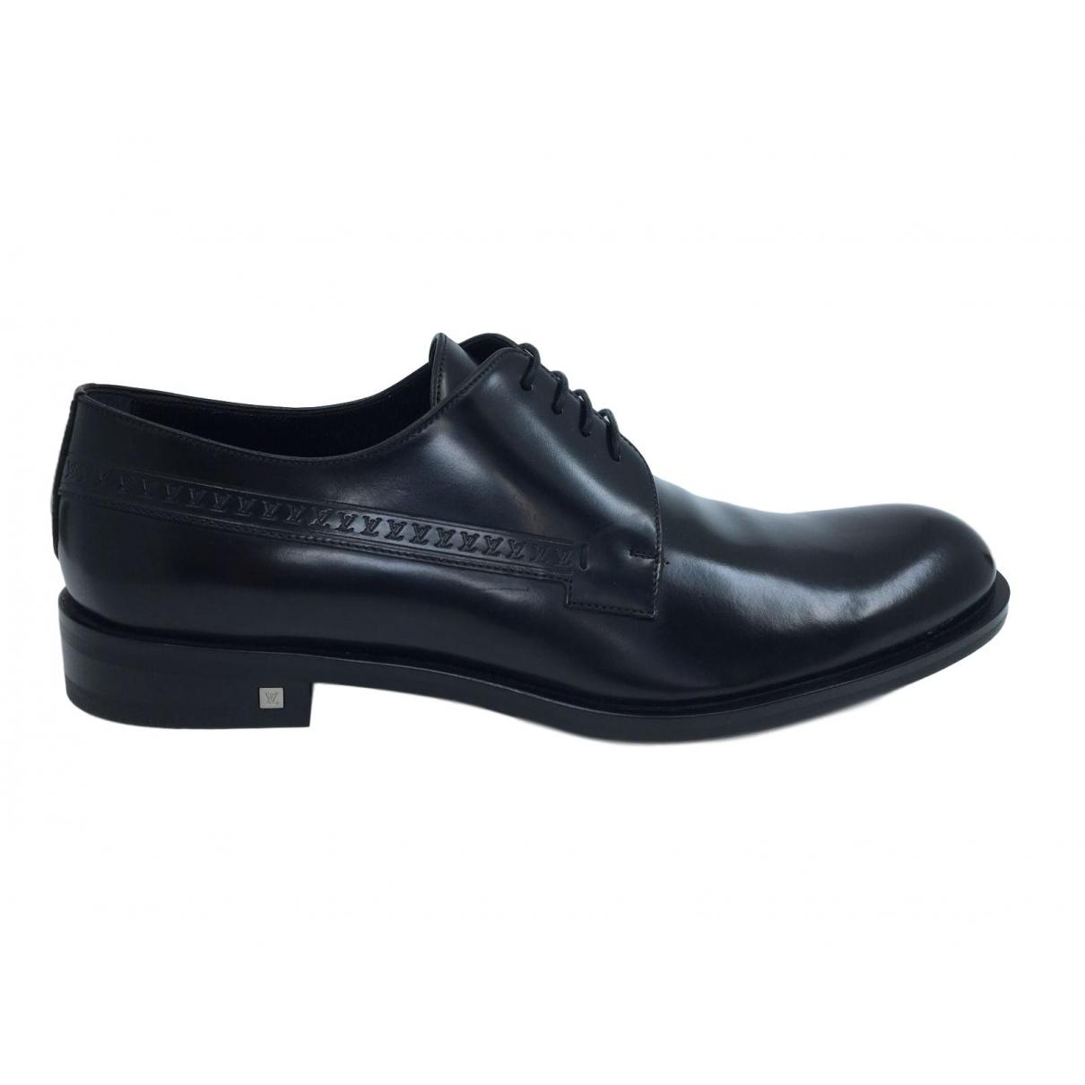 Louis Vuitton \N Black Leather Lace ups for Men 8.5 UK