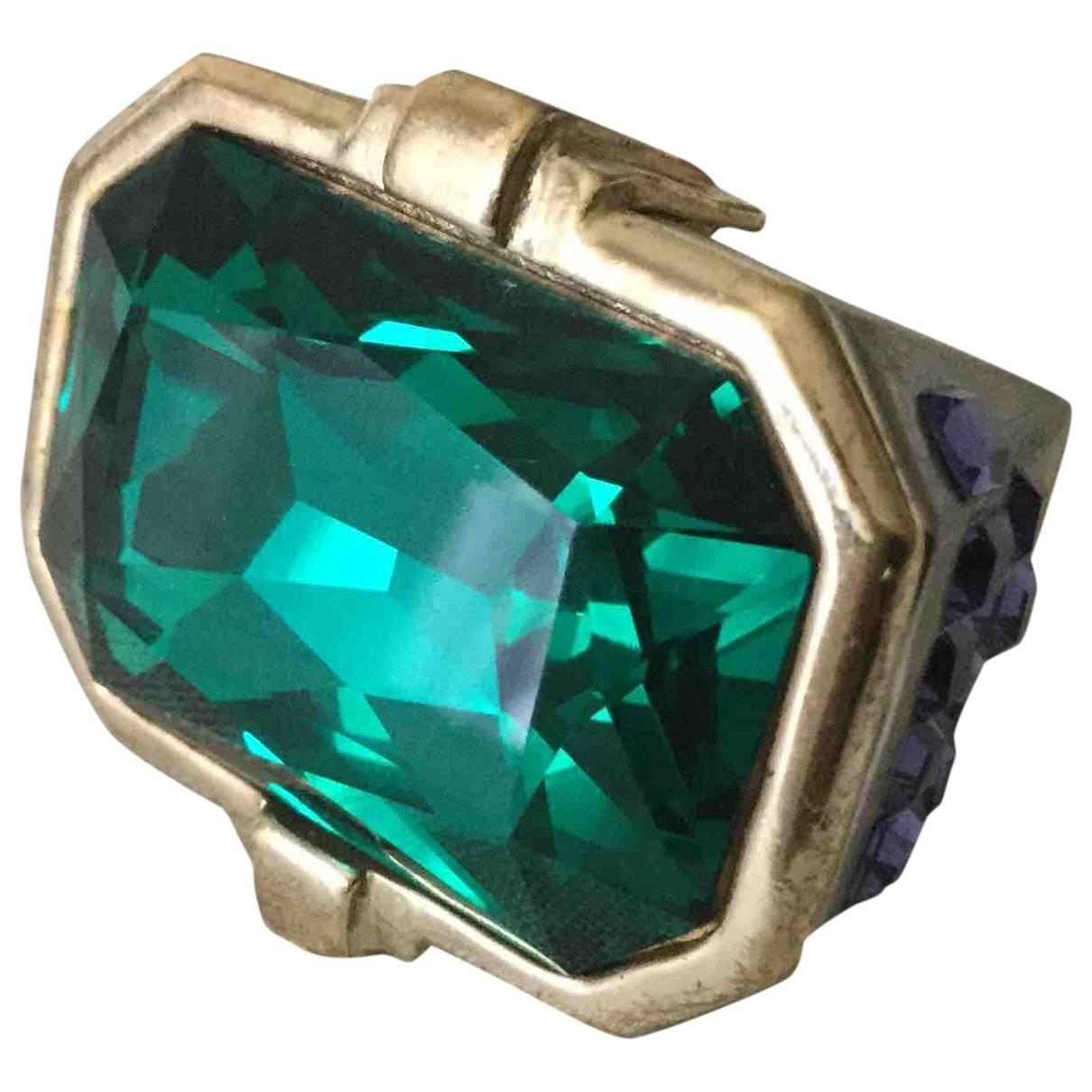 Versace \N Green Metal ring for Women \N