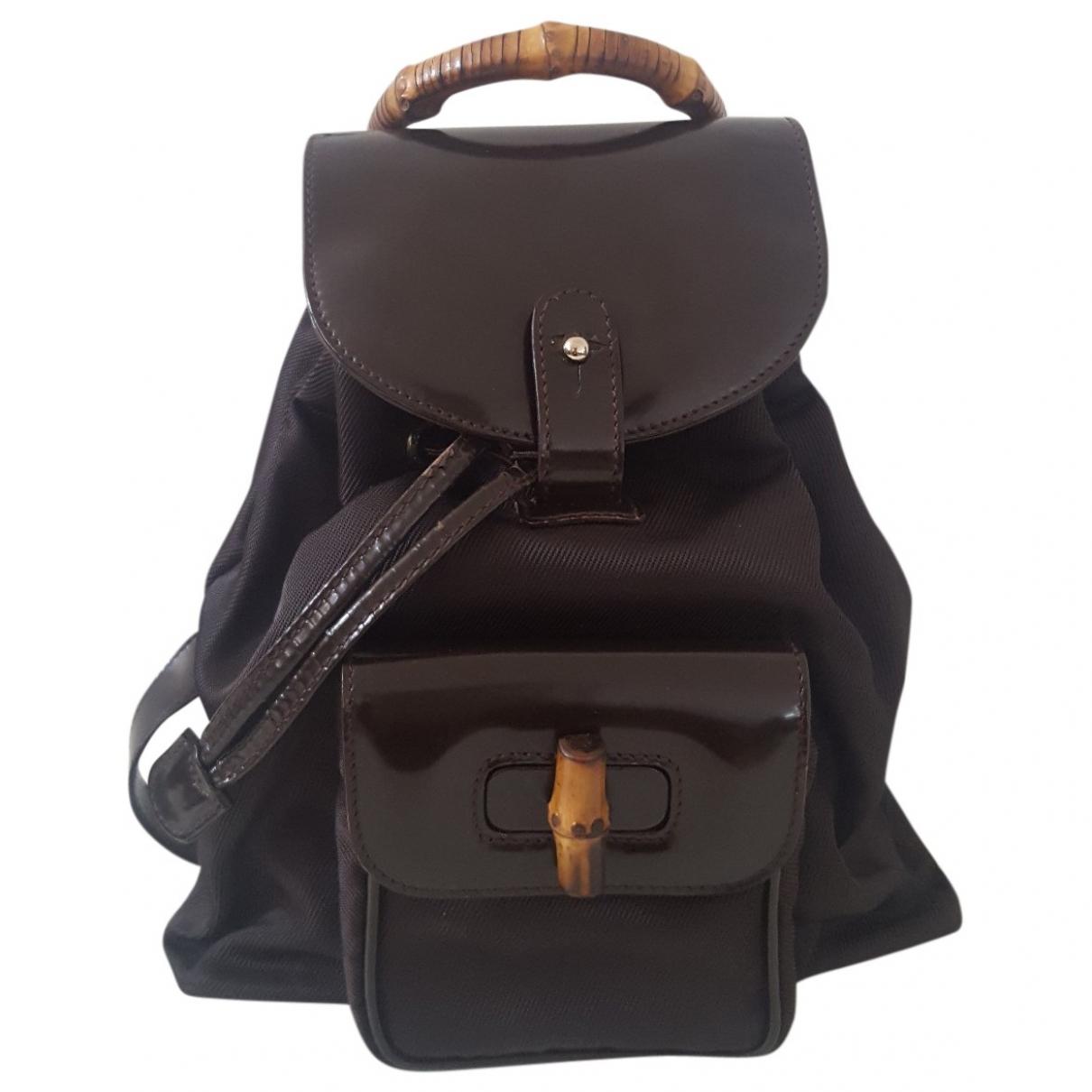 Gucci \N Brown Cloth backpack for Women \N