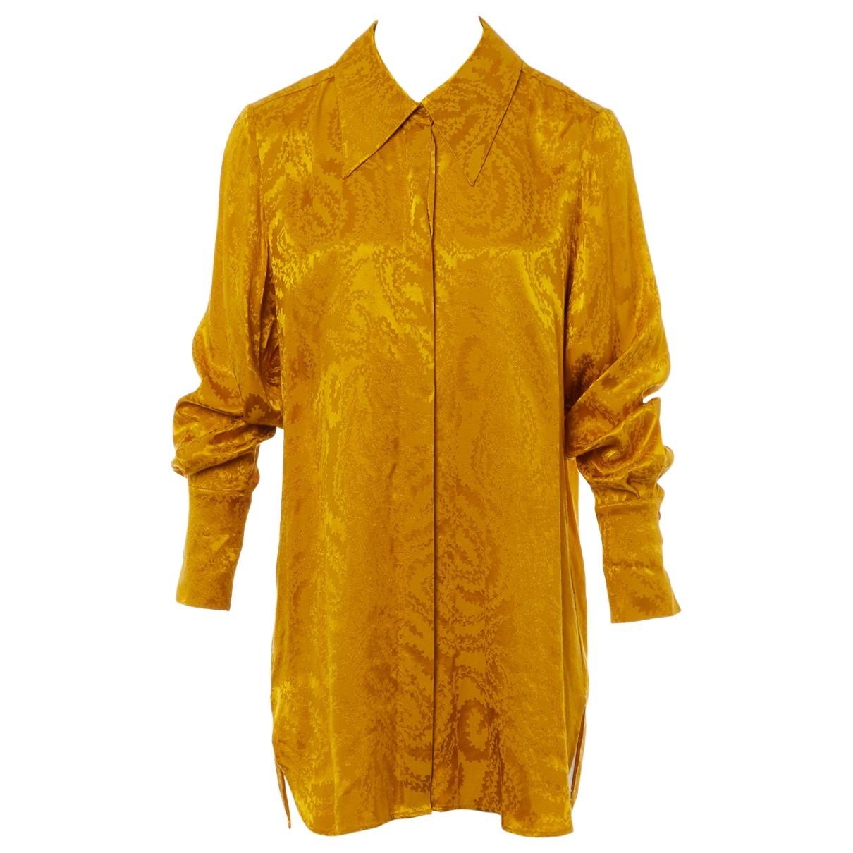 Stine Goya \N Gold Silk  top for Women XS International