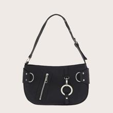 Zip Front Baguette Bag
