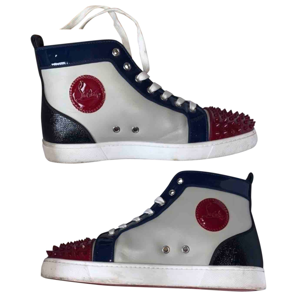 Christian Louboutin Louis Grey Leather Trainers for Men 42 EU