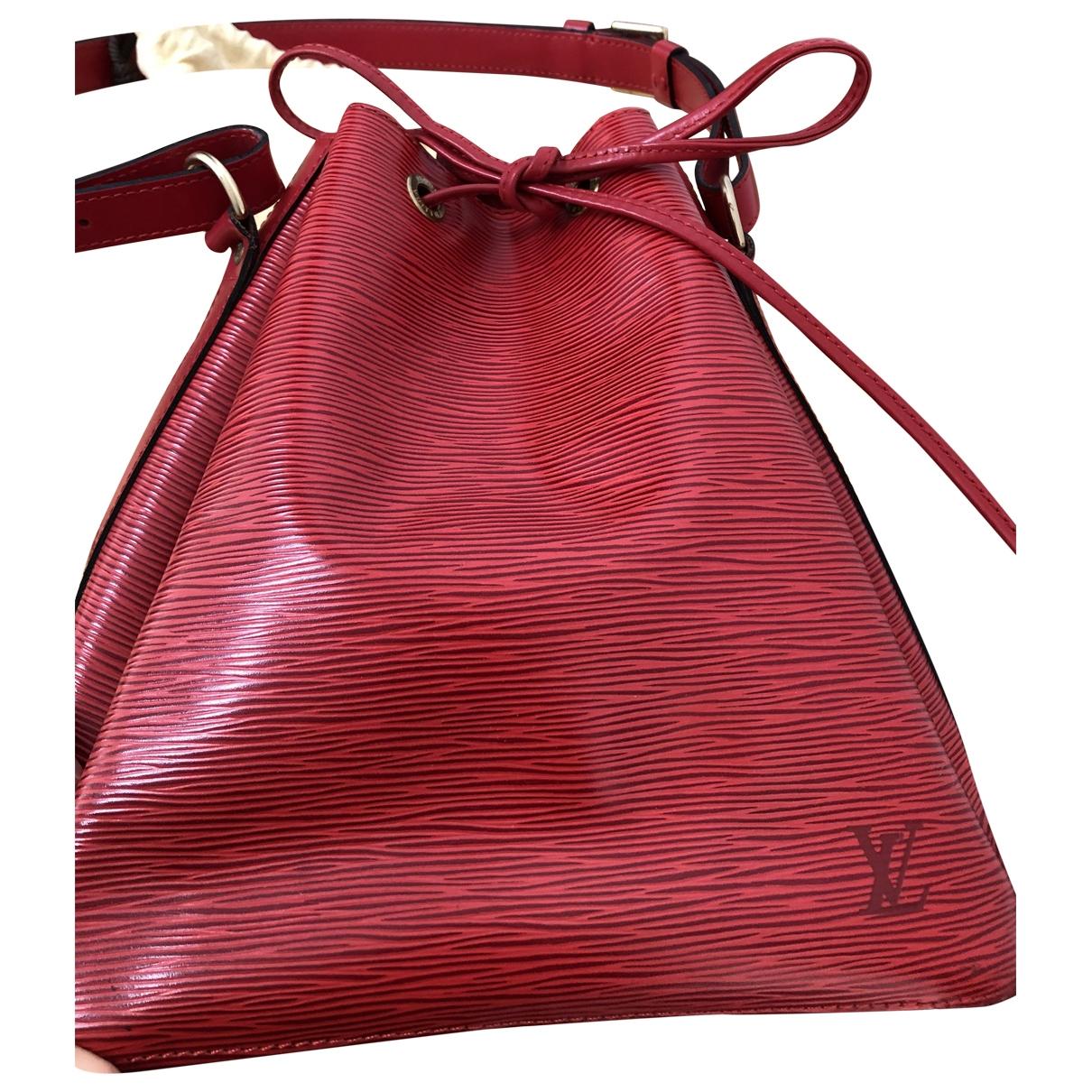 Louis Vuitton Petit Noé trunk Red Leather handbag for Women \N