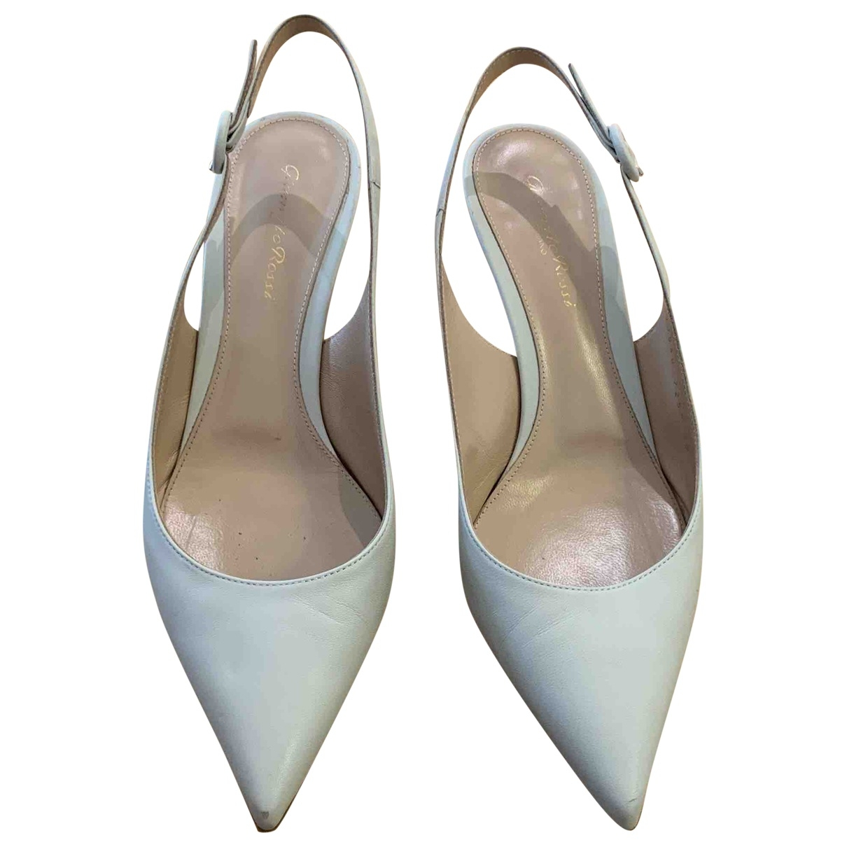 Gianvito Rossi \N White Leather Heels for Women 39 EU