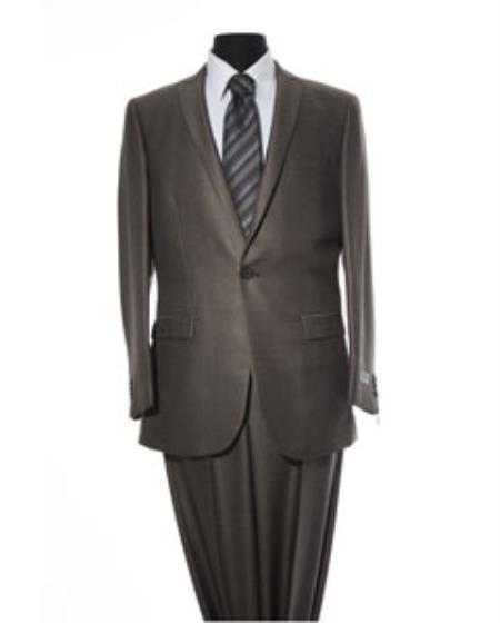 Mens Grey 2 Button 2 Piece Suit