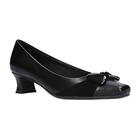 Easy Street Womens Rejoice Pumps Spike Heel, 7 Medium, Black